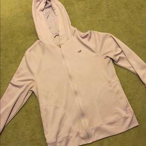 Tops - New Balance Lavendar zip up hoodie